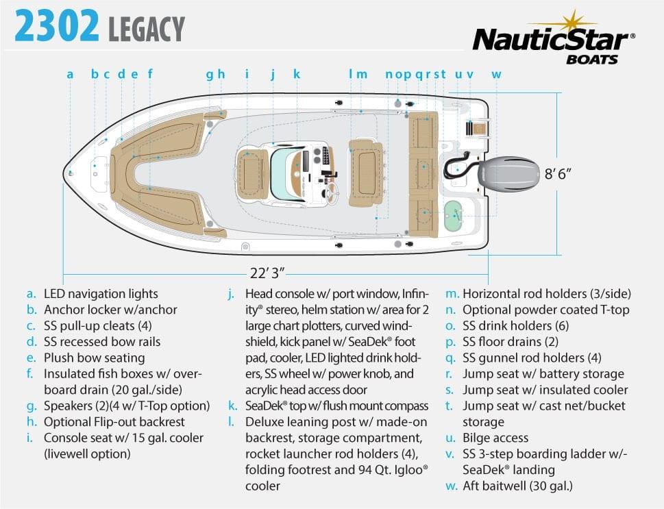 NauticStar 244 XTS Ins - Aqua Marine New Orleans on